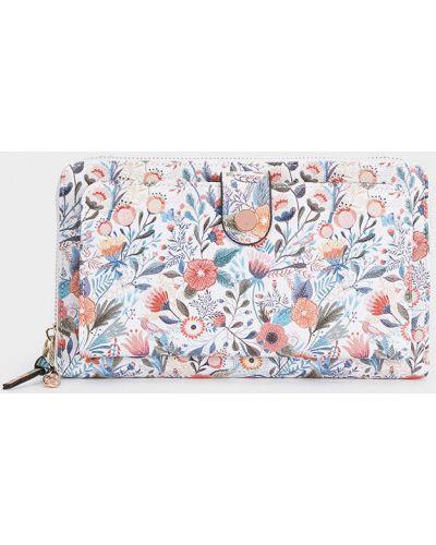 Skórzany portfel beżowy Parfois