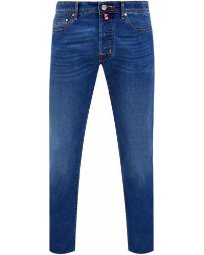 Синие деловые джинсы с нашивками на пуговицах Jacob Cohen