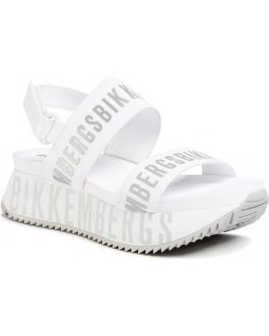 Białe sandały srebrne Bikkembergs