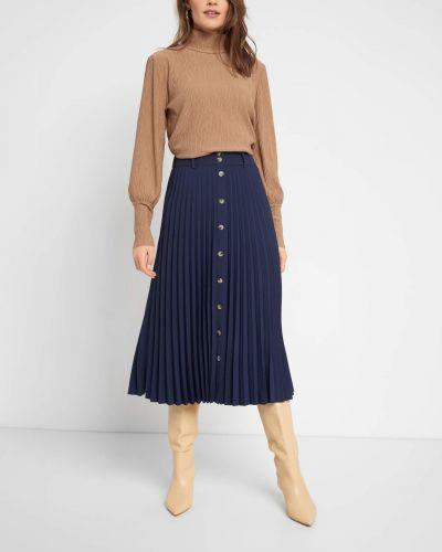Niebieski spódnica midi na przyciskach Orsay