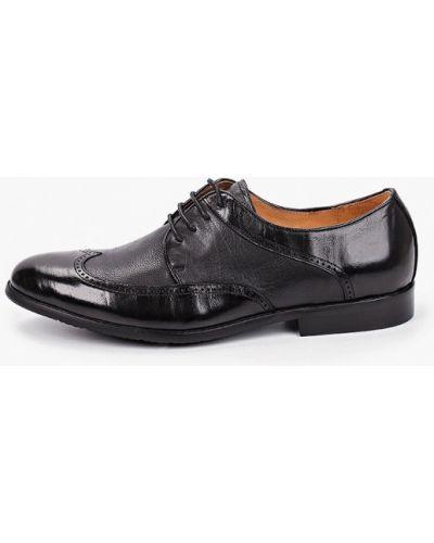 Черные кожаные туфли Franco Bellucci