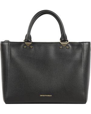 Кожаная сумка - черная Emporio Armani