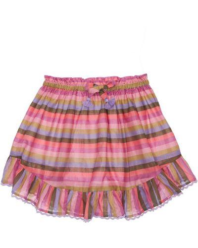Spódnica w paski bawełniana z printem Zimmermann