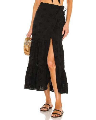 Черная льняная юбка Bardot
