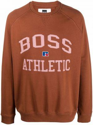 Brązowa bluza z printem Boss Hugo Boss