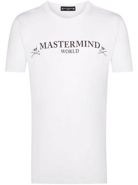 Koszula krótkie z krótkim rękawem z logo prosto Mastermind Japan