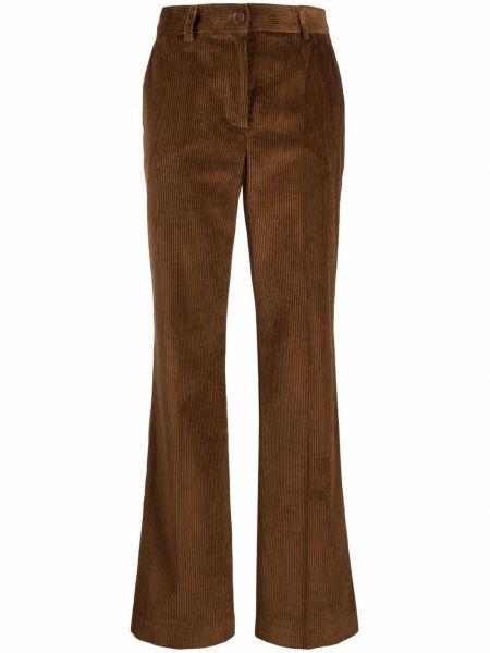 Brązowe spodnie bawełniane Parosh