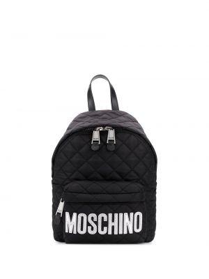 Czarny sport plecak miejski pikowany Moschino