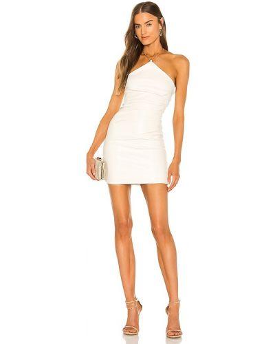 Biała sukienka skórzana Nookie