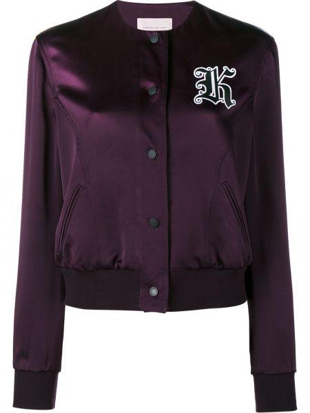 Розовая куртка из вискозы Christopher Kane