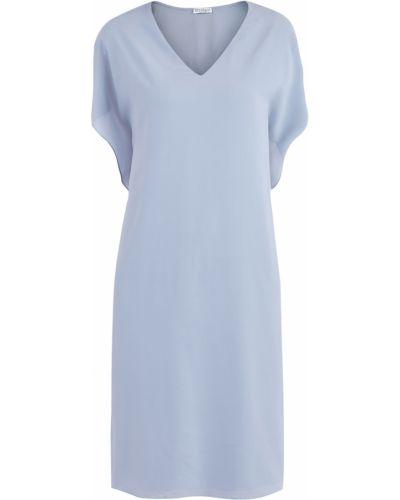 Платье с V-образным вырезом с бисером Brunello Cucinelli