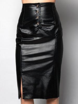 Шерстяная юбка - черная Balizza
