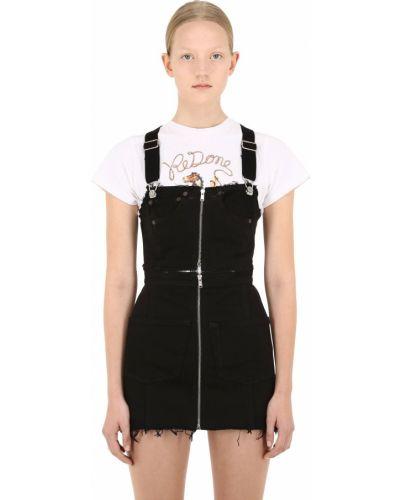Платье на бретелях - черное Re/done