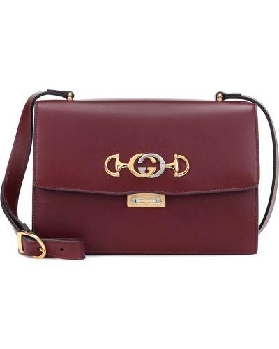 Кожаная сумка маленькая на плечо Gucci