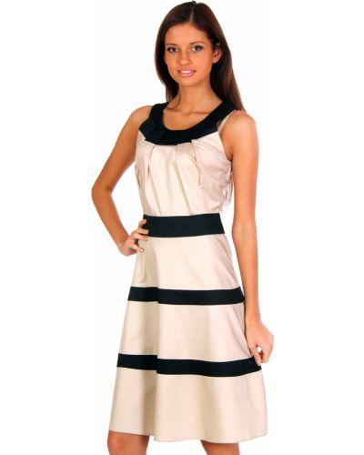 Платье весеннее бежевое Perspective