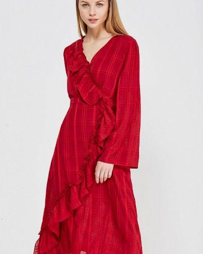 Платье с запахом с длинными рукавами Lost Ink.