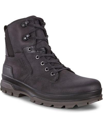 Кожаные ботинки на шнурках на тракторной подошве Ecco
