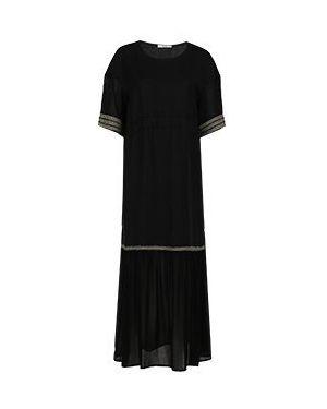 Черное повседневное платье из вискозы Vuall