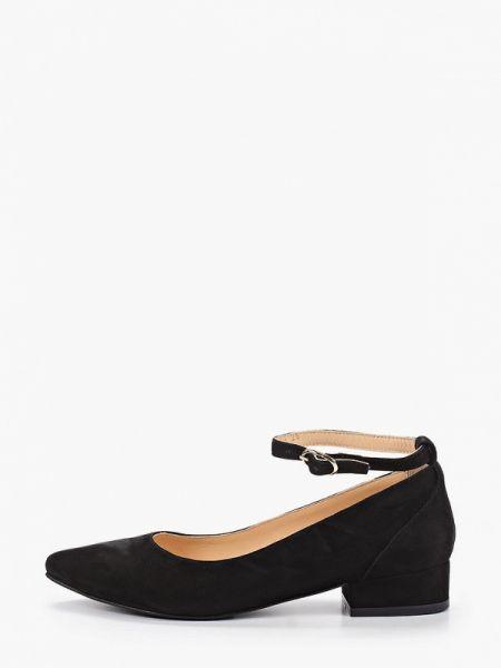 Замшевые туфли черные осенние Hestrend