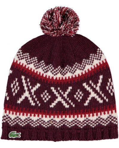 Кашемировая шапка - белая Lacoste