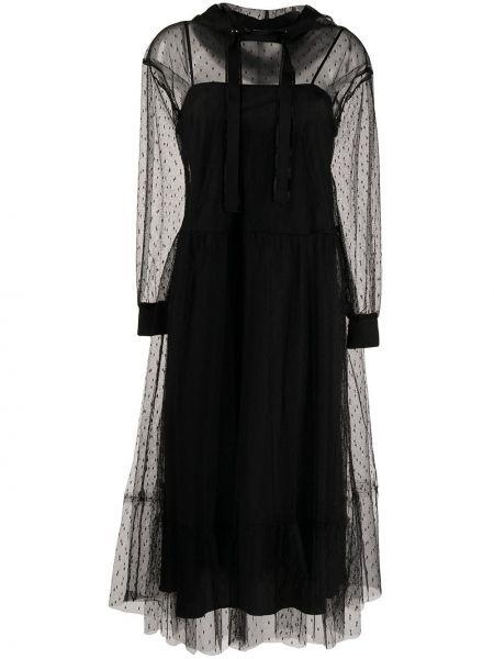 Платье в горошек с капюшоном Redvalentino