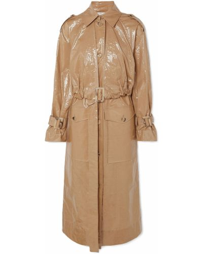 Желтое пальто с карманами с манжетами Rejina Pyo