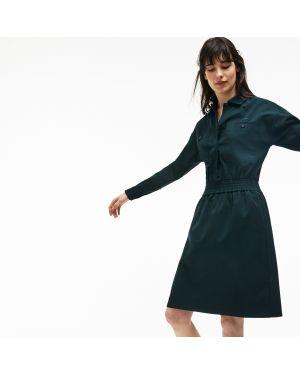 Платье из вискозы шерстяное Lacoste