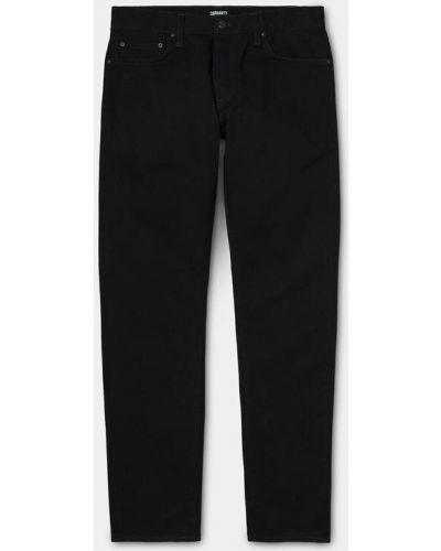 Черные прямые джинсы классические с низкой посадкой Carhartt Wip