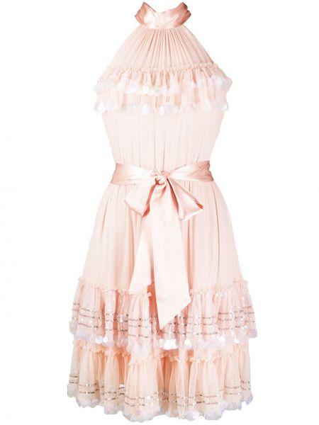 Платье с открытой спиной шифоновое Temperley London