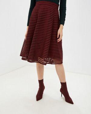 Платье осеннее красный Yumi
