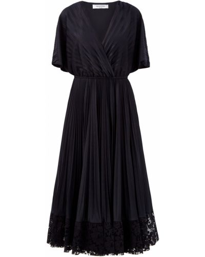 Платье с запахом - черное Valentino