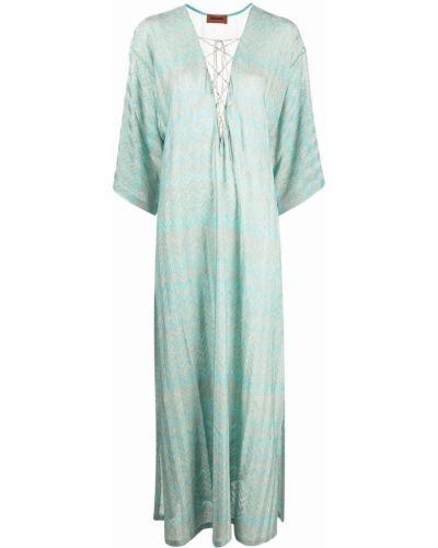 Кружевное платье - синее Missoni