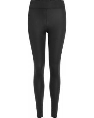Компрессионные кожаные спортивные черные брюки Demix