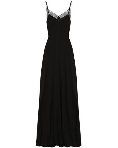 Вечернее платье макси приталенное Saint Laurent