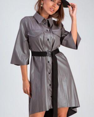 Кожаное платье Karree