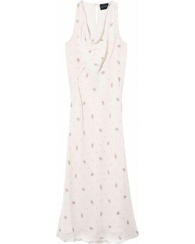 Шелковое платье миди - белое Marc Jacobs