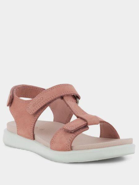 С ремешком розовые сандалии на липучках Ecco