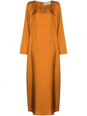 Коричневое шелковое платье Asceno