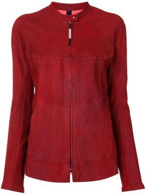 Красная кожаная куртка на молнии Isaac Sellam Experience