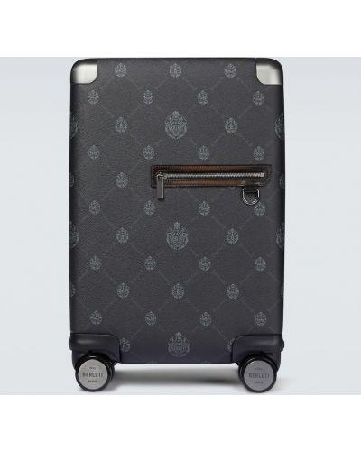 Czarna walizka Berluti