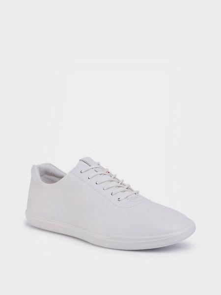 Белые кожаные полуботинки с подкладкой Ecco