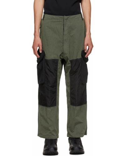 Czarne spodnie z paskiem Nemen