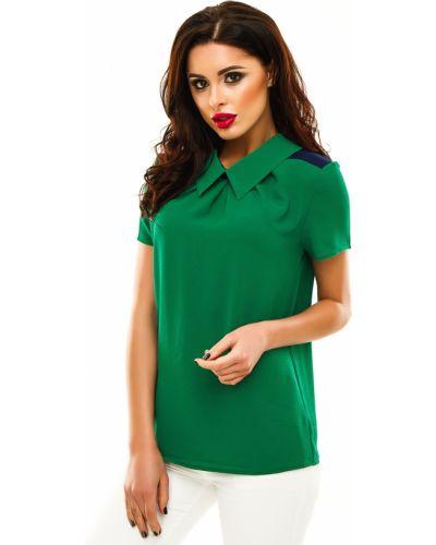 Блузка с коротким рукавом зеленый синяя Lacywear