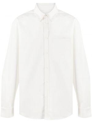 Белая прямая классическая рубашка с воротником с карманами We11done