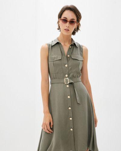 Прямое платье хаки Lusio