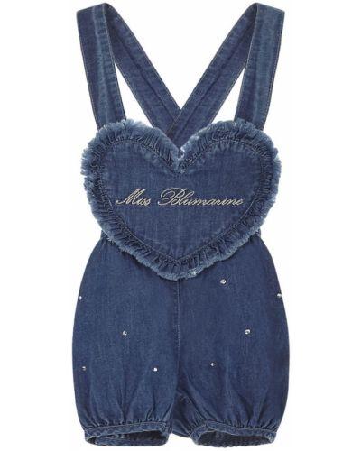 Niebieski body Miss Blumarine