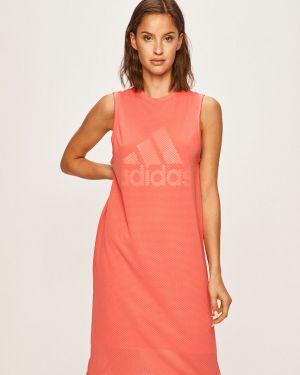 Розовое платье мини с вырезом Adidas Performance