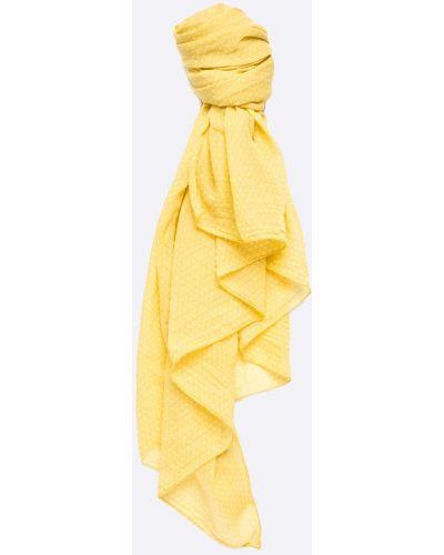 Желтый шарф с узором Answear