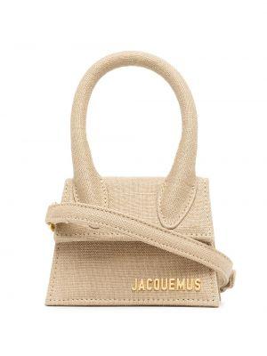 Золотистая желтая маленькая сумка Jacquemus