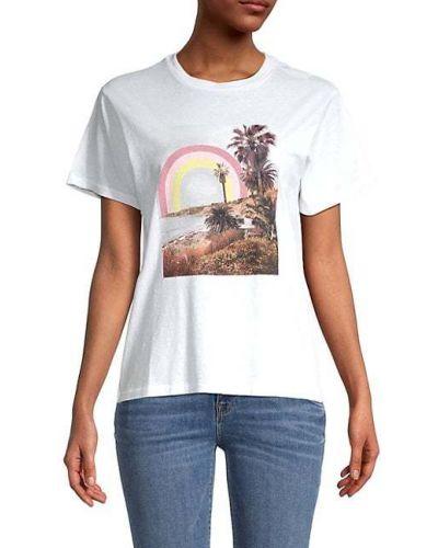 Хлопковая белая футболка с короткими рукавами Wildfox